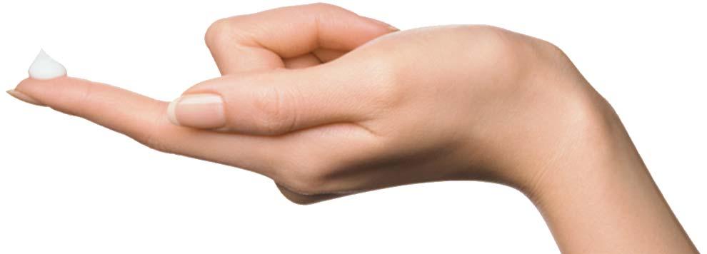Finger mit Salbe