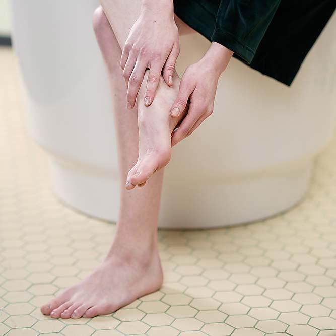 Fußpilz behandeln